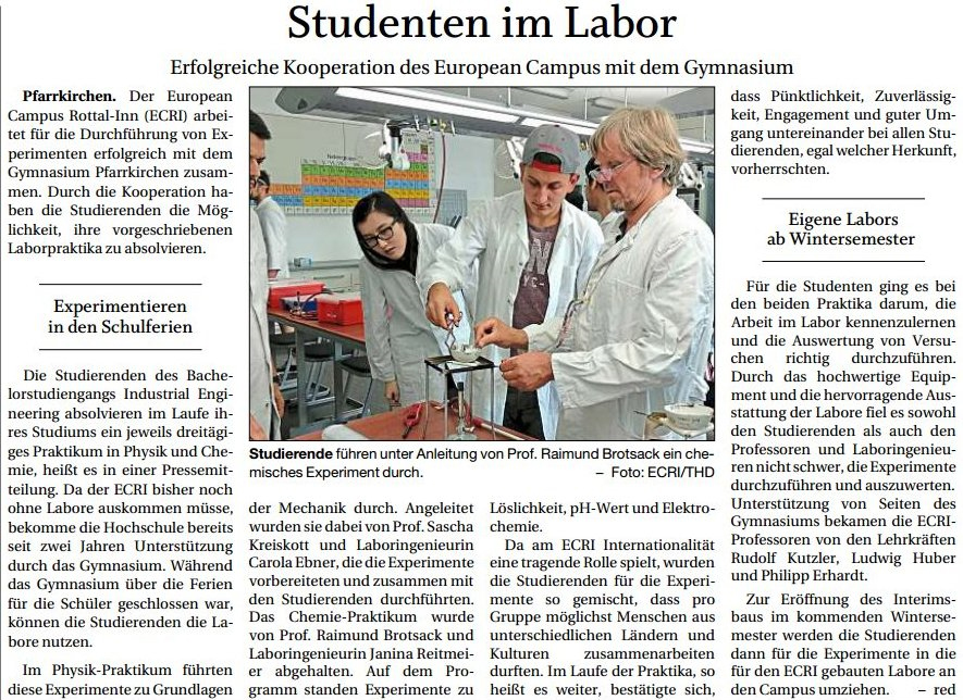 Studenten im Labor